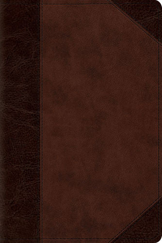 ESV Personal Reference Bible (TruTone®, Brown/Walnut, Portfolio Design)