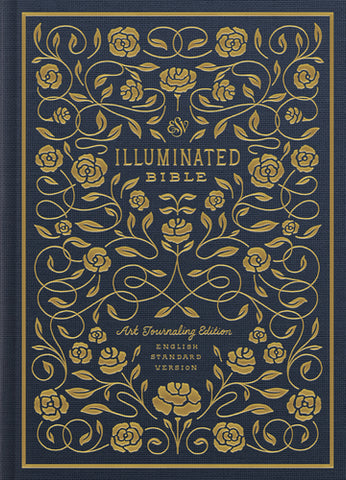 ESV Illuminated Bible, Art Journaling Edition  Cloth over Board, Navy