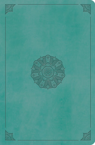 ESV Value Compact Bible  TruTone®, Turquoise, Emblem Design