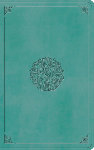 ESV Value Thinline Bible  TruTone®, Turquoise, Emblem Design