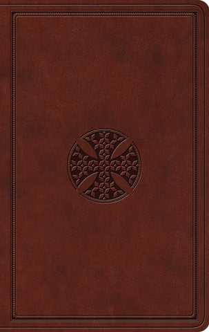 ESV Value Thinline Bible  TruTone®, Brown, Mosaic Cross Design