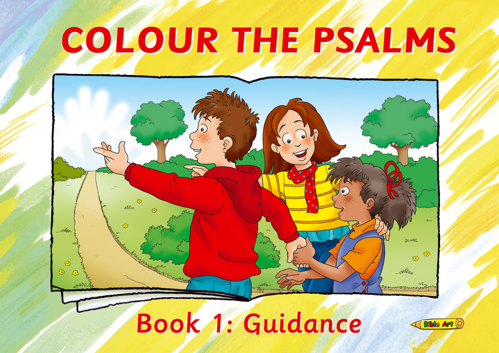 Colour the Psalms Book 1: Guidance (Bible Art)