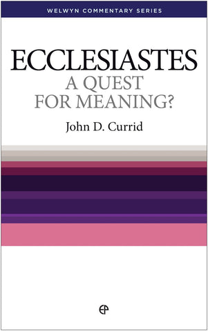 Ecclesiastes - A Quest for Meaning? (Welwyn Commentary Series)