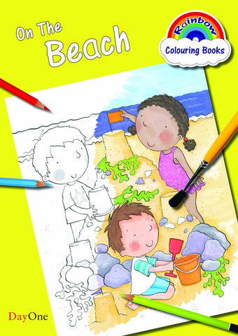 On the Beach (Rainbow Colouring Book)