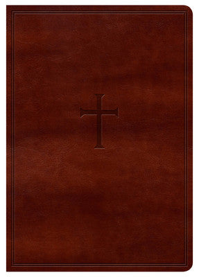 KJV Large Print Compact Reference Bible, Brown LeatherTouch