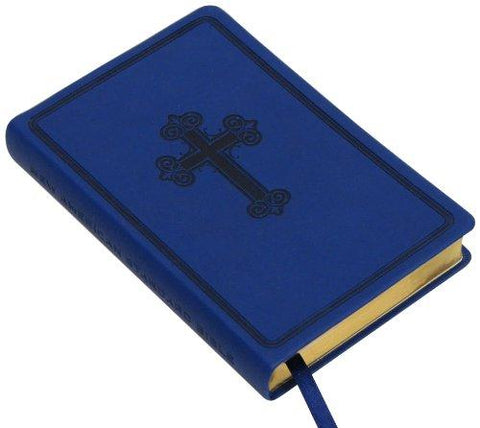 NASB Compact Bible Leathertex Navy