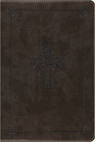 ESV Study Bible, Personal Size (Olive/Celtic Cross)