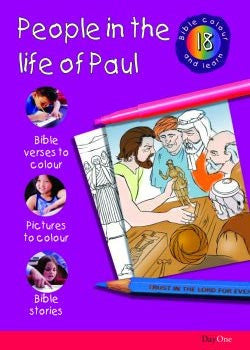 Bible Colour and learn #18: People in the life of Paul
