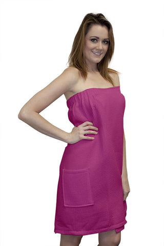 Spa Body Wrap Towel Fuchsia