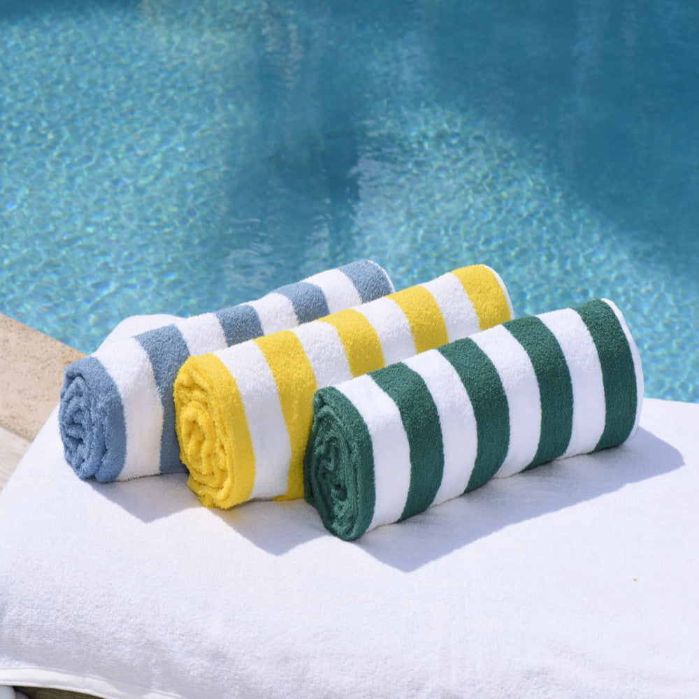 Ocean Stripe Pool Towel | The Factory | The Best Sheets & Towels In the world
