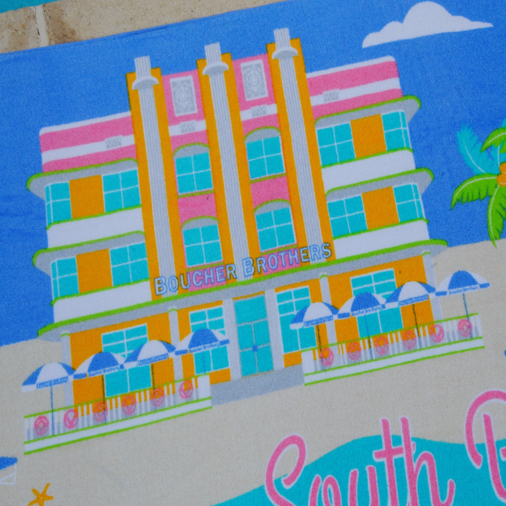 Boucher Brothers South Beach Towel | The Factory | The Best Sheets & Towels In the world