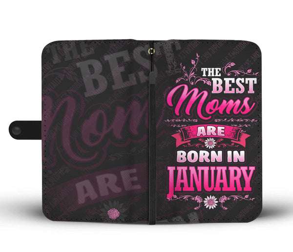 January Mom Wallet Case