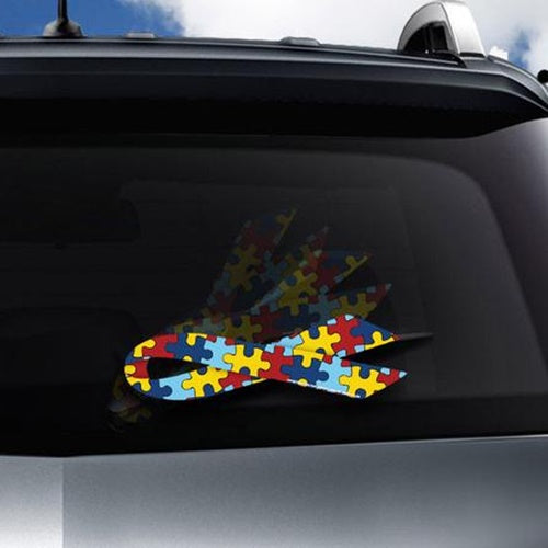 Autism Awareness Ribbon Decal