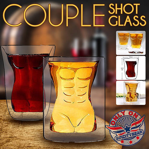 COUPLE SHOT GLASS (PAIR)