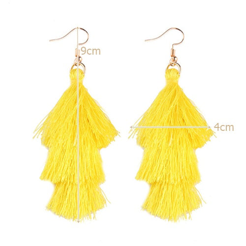 Hot November Tassel Earrings (Yellow Topaz)