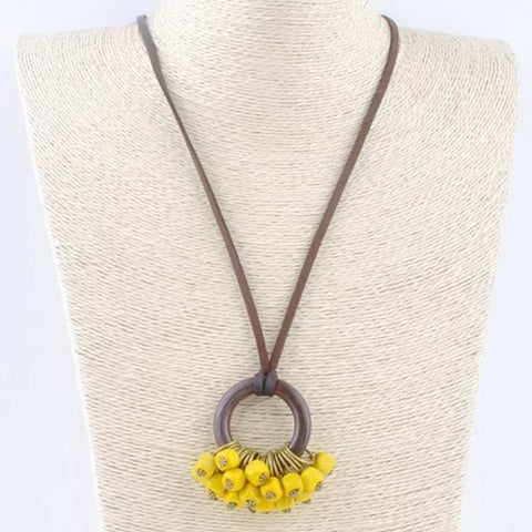Vintage Citrine Inspired Necklace