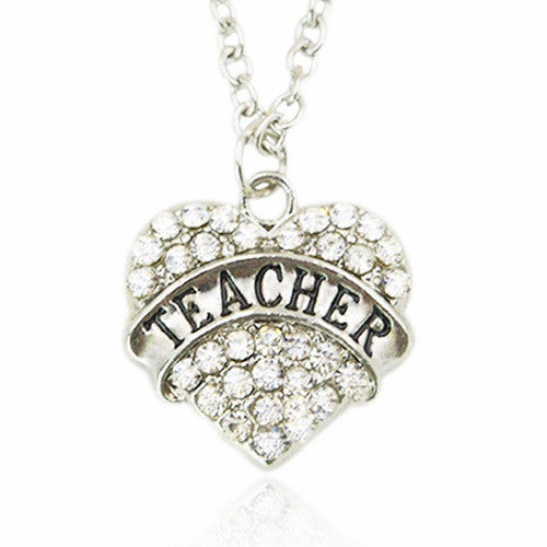 Teacher Diamond April Birthstone Necklace
