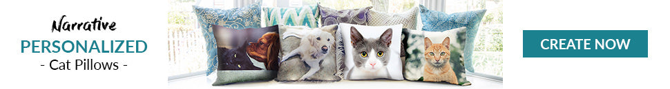 Personalized cat pillows image