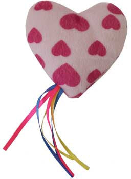 Refillable Catnip Ribbon Heart Cat Toys
