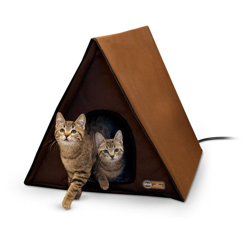 Outdoor Heated Kitty A-Frame Shelter