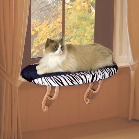 Designer Kitty Sill Perch - Zebra