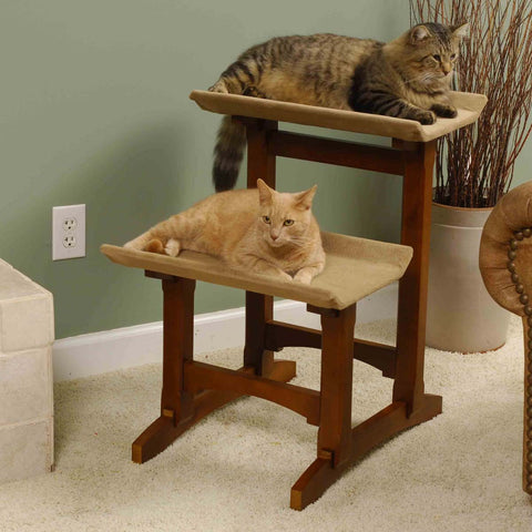 American Craftsman Series - Double Cat Tree - Cherry - IT'S BACK!!!