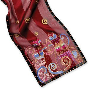 Laurel Burch™ Crimson Cats Sequined Oblong Scarf