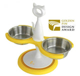 Two Bowl Raised Feeder - Cat Friendly, Human Friendly - LOW STOCK!!!