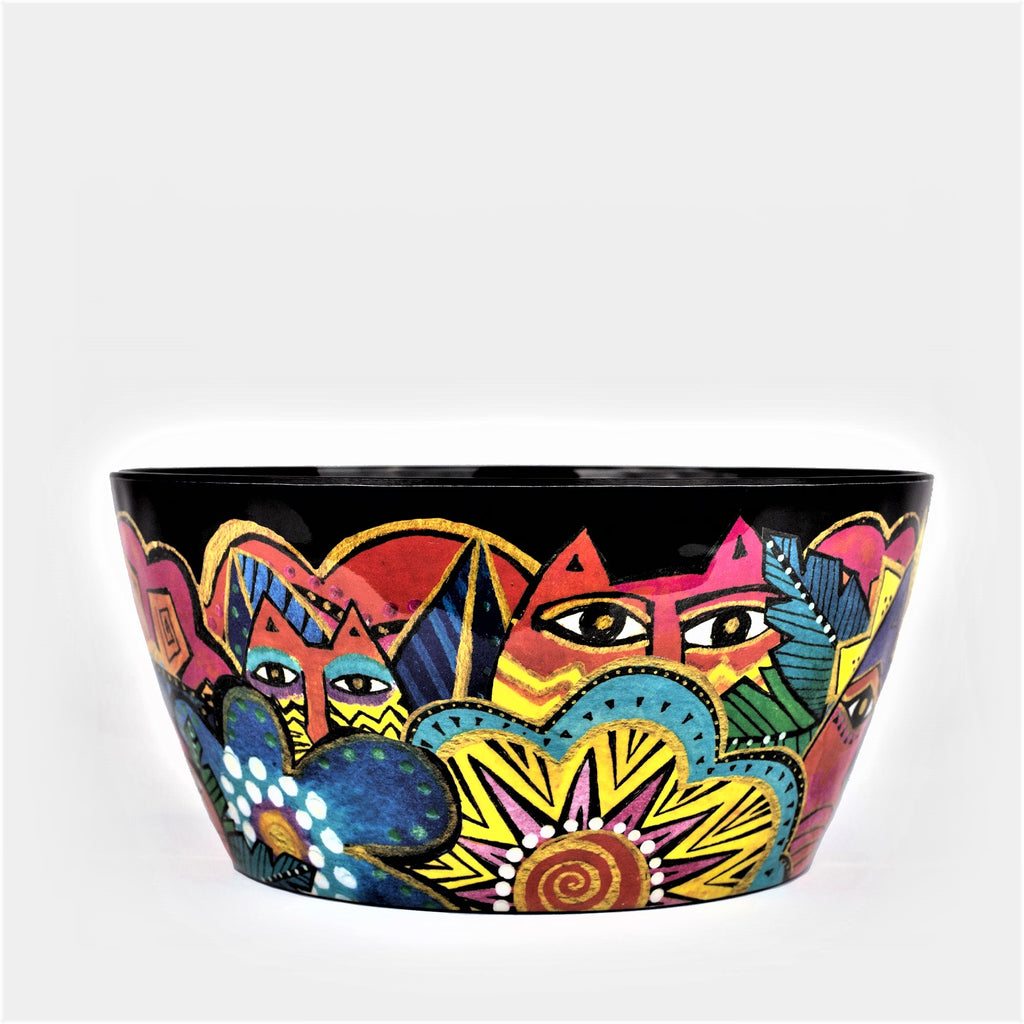 Laurel Burch™ Laurel's Garden Cats Melamine Serving Bowl - NEW!!!