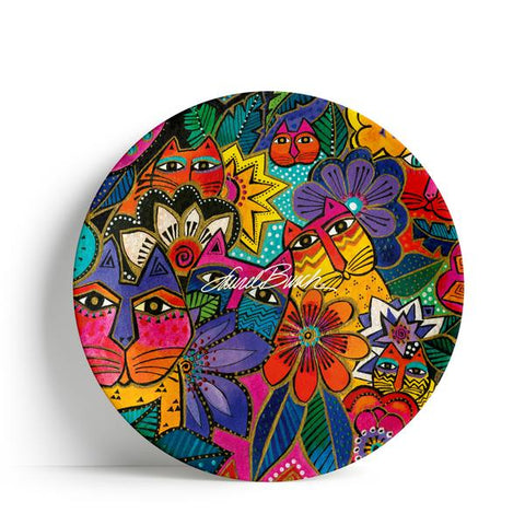 Laurel's Cat Garden Paper Plates - SALE! - 15% OFF!