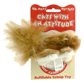 Cats With An Attitude® Refillable Catnip Toy - Squirrel
