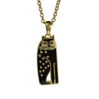 Laurel Burch™  14K Gold Plated Black/White Cat  Pendant - 25% OFF - LOW STOCK!