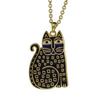 Laurel Burch™ Indigo Cat Gold Pendant - NEW!!!