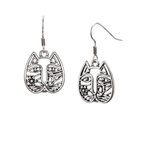 Laurel Burch™ Gatos Silver Earrings - NEW!!!