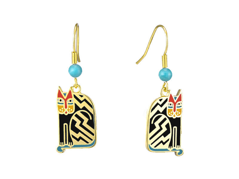Laurel Burch™ Aztec Cat Drop Earrings - NEW!!!