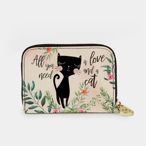 Cat Love Armored Zippered Wallet