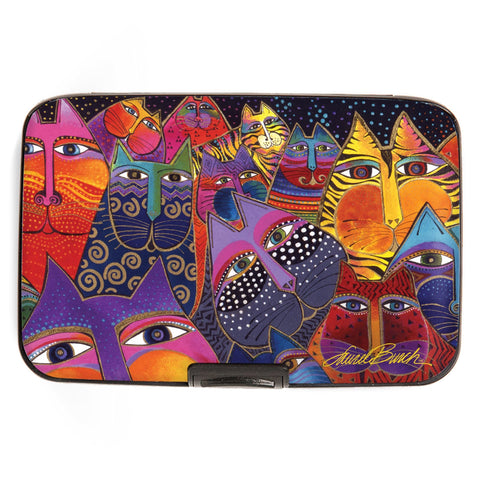 """Laurel Burch™ Fantasticats Armored Wallet and Credit Card Sleeve - NEW!!!"