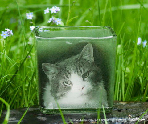 Custom Cat Memorial Votive - NEW!!!
