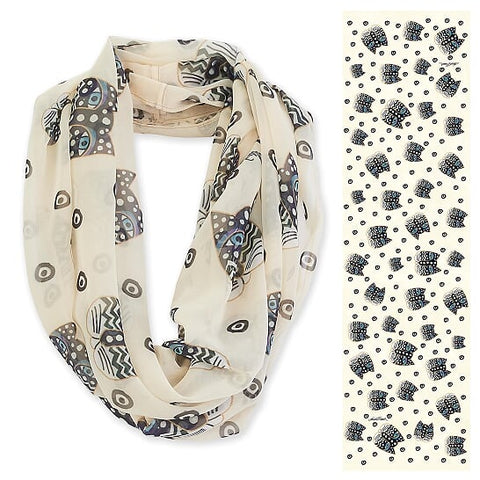 Laurel Burch™  Polka Dot Cats Infinity Scarf - NEW!!!