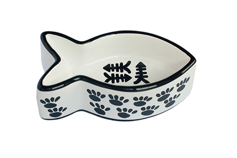Ceramic Paw Themed Cat Fish Bowl - NEW!!!
