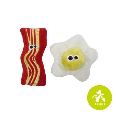 Mad Cat Brunch Buddies - Bacon & Egg Catnip Toys - NEW!!!