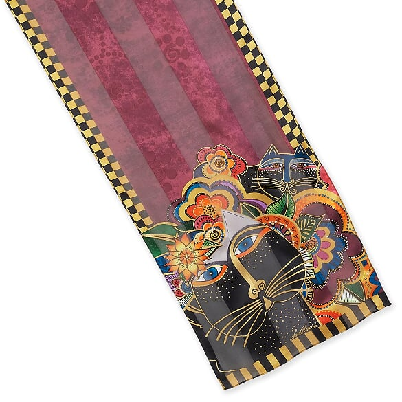 Laurel Burch™ Carlotta's Cats Silk Oblong Scarf - NEW!!!