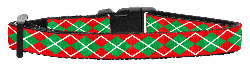 Holiday Cat Nylon Breakaway Collar - Christmas Argyle Pattern - NEW!!!
