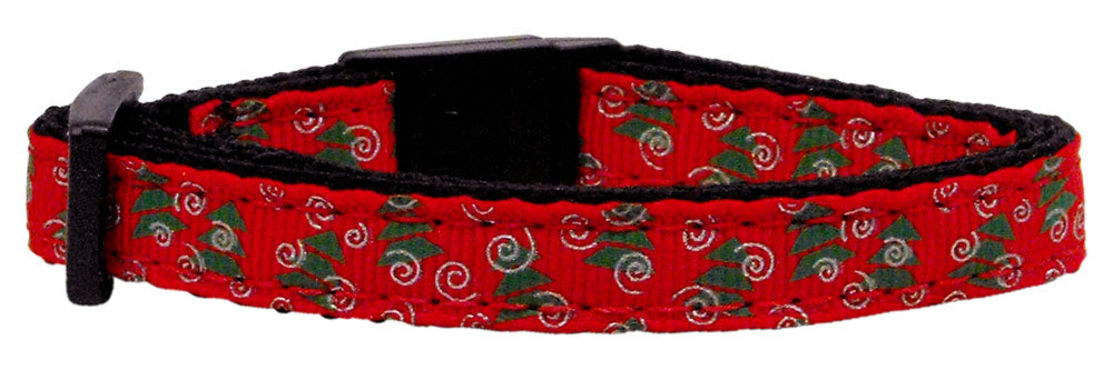 Holiday Cat Nylon Breakaway Collar - Christmas Trees Design - NEW!!!