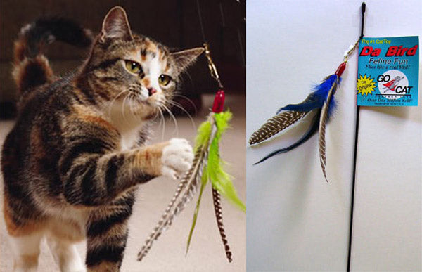 """Da Bird"" Cat Wand Toy -Popular!"