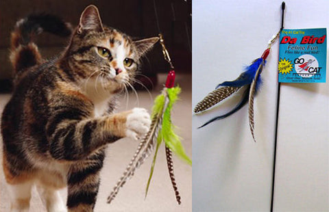 Da Bird™ Cat Wand Toy -All Time Popular Favorite - 4 Attachments Available!