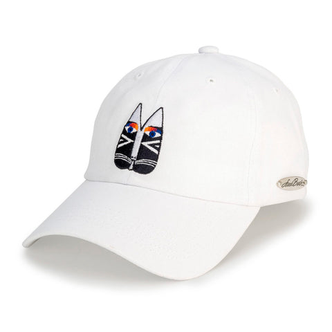 Laurel Burch™ Black & White Cat Embroidered Cap - SALE!!