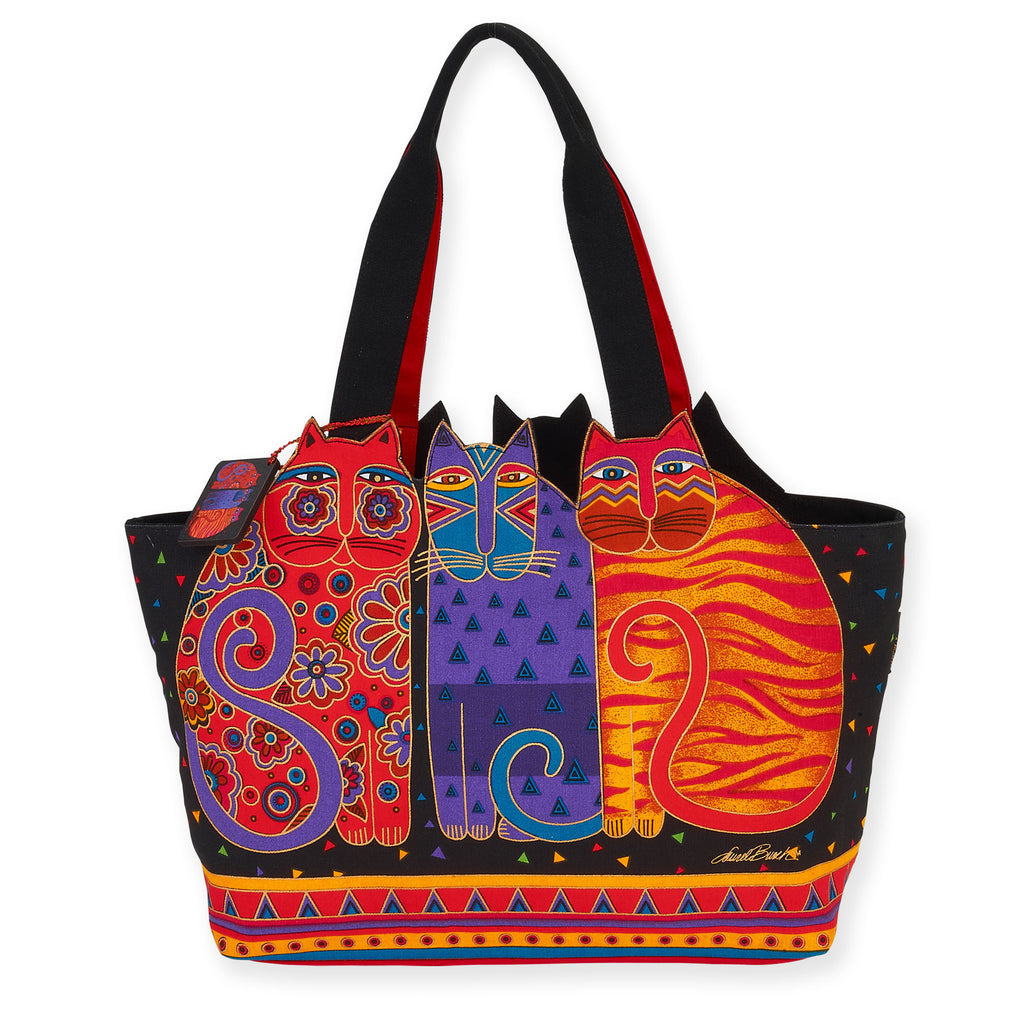 Laurel Burch™ Feline Friends Large Cut Out Shoulder Tote - NEW!!!