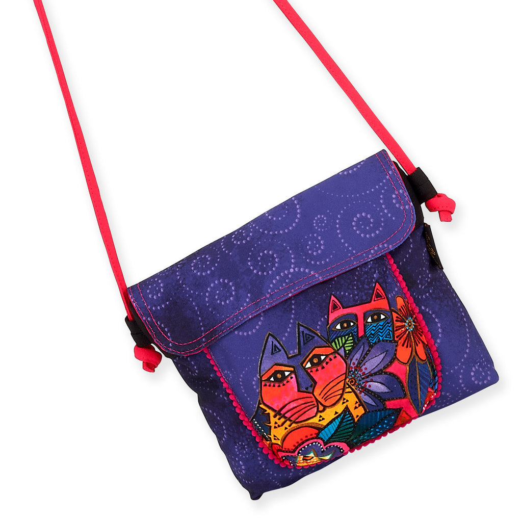 Laurel Burch™ Garden Cats Flap Over Crossbody - NEW!!!