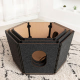 Happystack® Cat Condo - Hexagonal Model - NEW - 4 Colors Available!!!